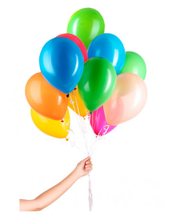 30 Latex Balloons For Helium With String