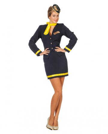 Flugbegleiterin Kostüm 4-tlg.