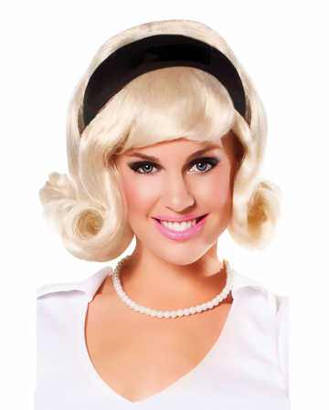 50s Wig With Hairband Blond