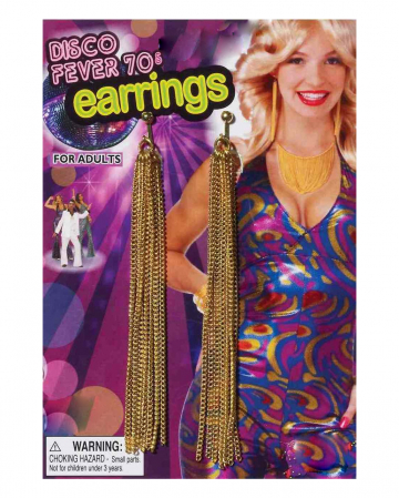 70s Disco Fringe Earrings