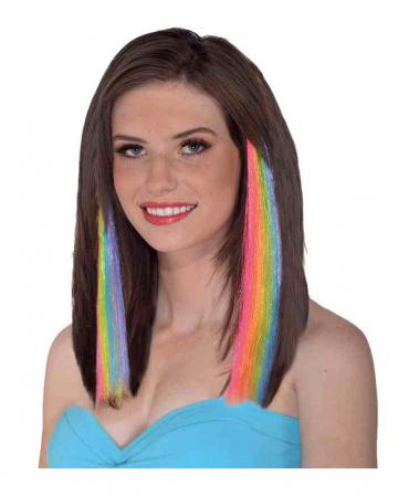 80s Rainbow Hair Extensions