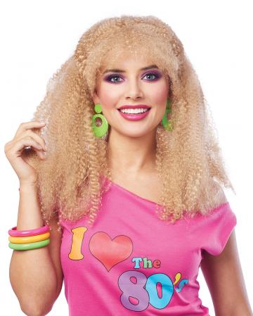 80er Jahre Bad Taste Perücke Blond