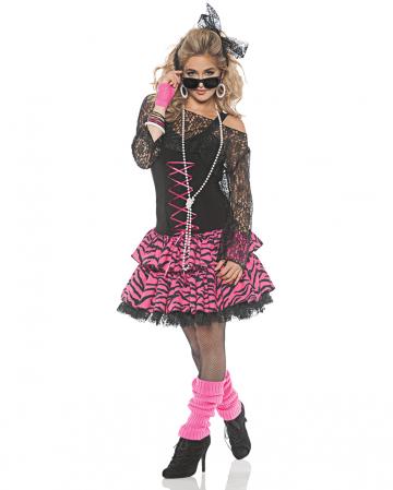80s Kostüm Pop Party Girl