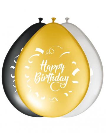 8 Pack Balloons Happy Birthday