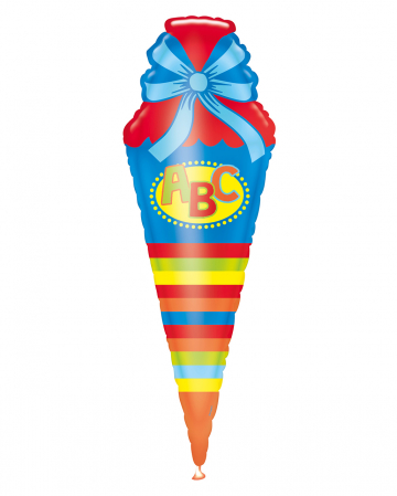 Folienballon ABC Schultüte 111cm