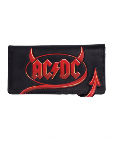 AC/DC Wallet With Devil's Tail As Closure