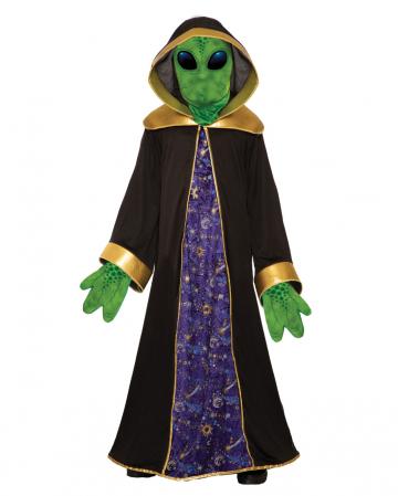 Alien Robe mit Maske & Handschuhe