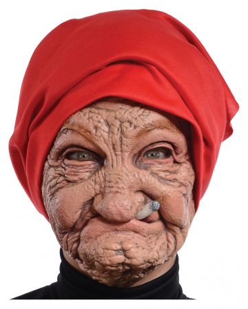 Old Granny Mask With Headscarf