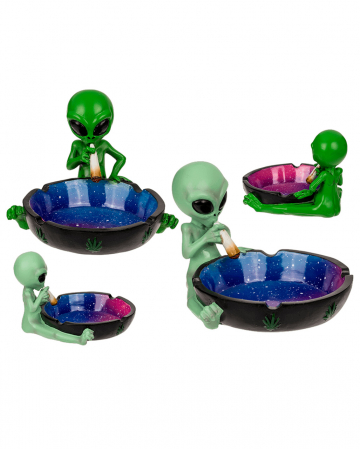 Ashtray Alien With Joint, 1 Piece