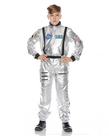 Astronaut Kids Costume silver