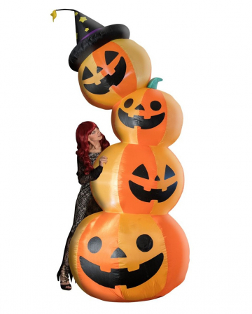 Inflatable Pumpkin Tower With Light 240cm