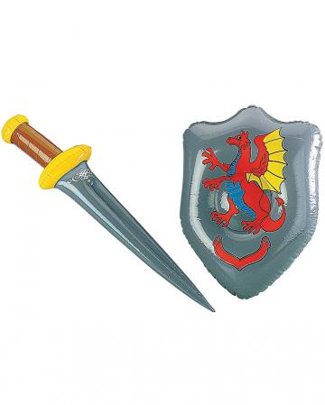 Aufblasbares Schwert mit Schild
