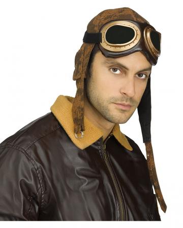 Aviator aviator cap with glasses