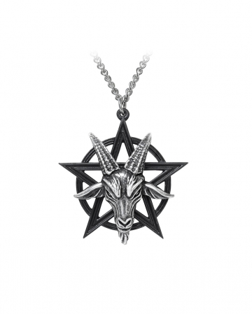 Baphomet Pentagram Pendant With Chain