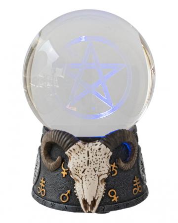 Baphomet Kristallkugel mit LED