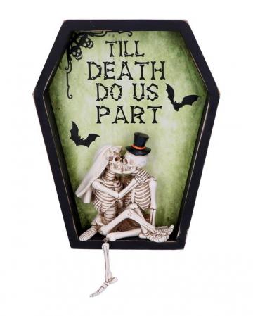 Bis der Tod uns trennt Skelett Wanddeko