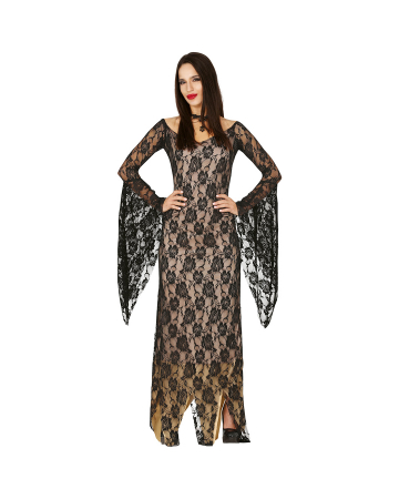Black Lace Lady Ladies Costume