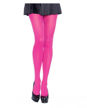 Nylon Strumpfhose Blickdicht Neon Pink