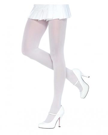 Opaque Nylon Pantyhose White