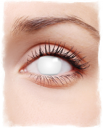 Shocking White Contact Lenses