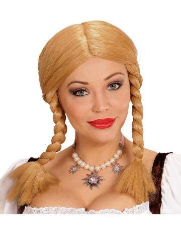Wendy mit Zöpfen Perücke blond