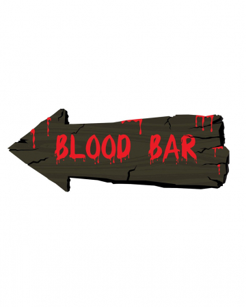 Blood Bar Halloween Wandschild