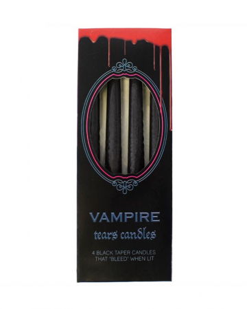 Bleeding Black Vampire Pointed Candles 4pcs.