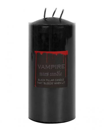 Bleeding Black Vampire Pillar Candle 15cm