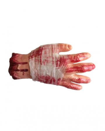 Blutige Hand mit Bandage Economy
