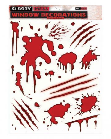 Blutspritzer Fenster Sticker