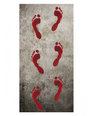 Bloody Footprints 6 Pieces 25x45cm