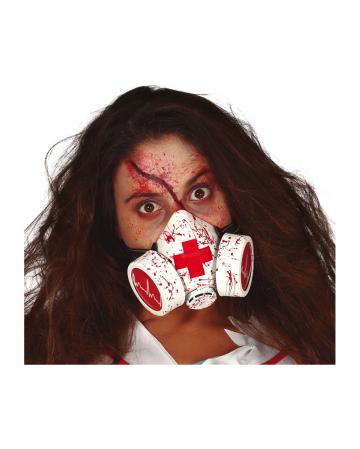 Blutverschmierte Gasmaske