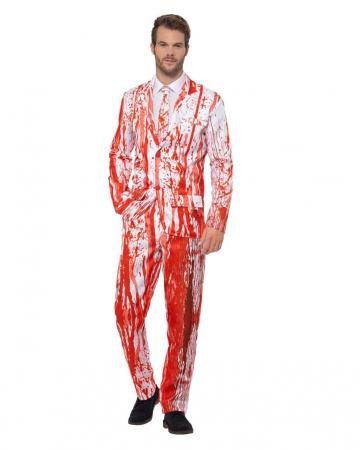 Blutspritzer Anzug mit Krawatte