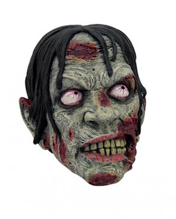 Blutiger Zombie Kopf 17cm