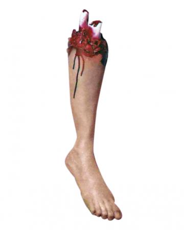 Blutiges Bein mit Knochenrest Premium