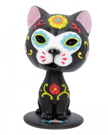 Bob Day of the Dead Wackelkopf Katze