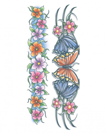 Body Bands Glue Tattoo Flowers