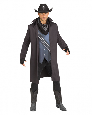 5-tlg. Texas Cowboy Kostüm mit Hut