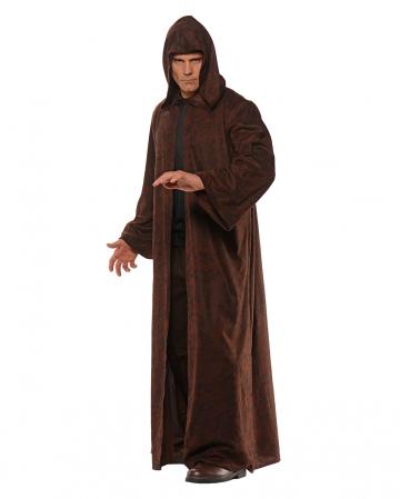 Brown-black Mottled Costume Coat With Hood