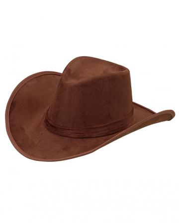 Brauner Cowboy Hut - Wildleder Look
