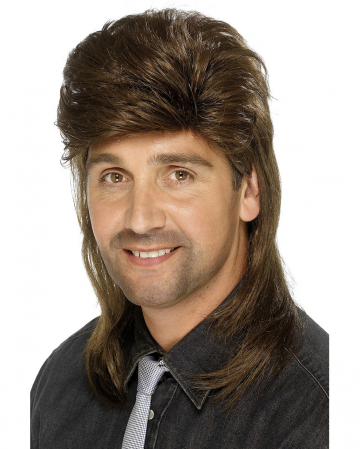 Brown Vokuhila Men Wig