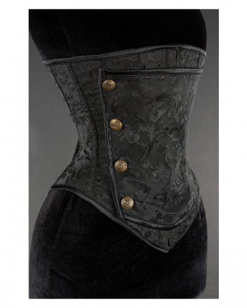 Brocade underbust corset with buttons