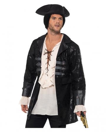 Buccaneer Pirate Costume Jacket Black