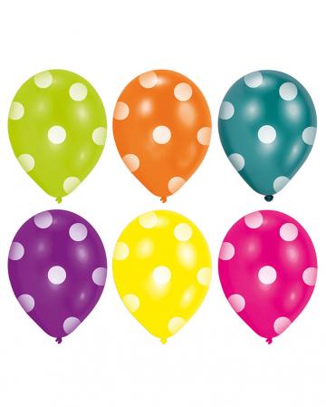 Bunte Punkt Ballons 6 St.