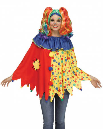 Colourful Clownsponcho One Size