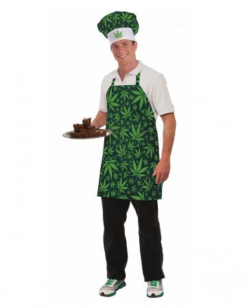 Marihuana Koch Set mit Schürze & Mütze
