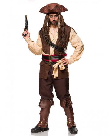 Captain Of The Caribbean Costume 12-piece