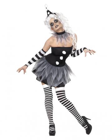 Düsterer Pierrot Damen Kostüm