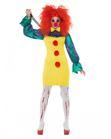 Classic Horror-Clown Ladies Costume