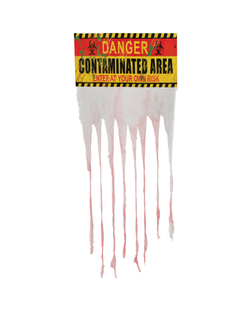 """""""Contaminated Area"""" Warning Sign With Curtain"""